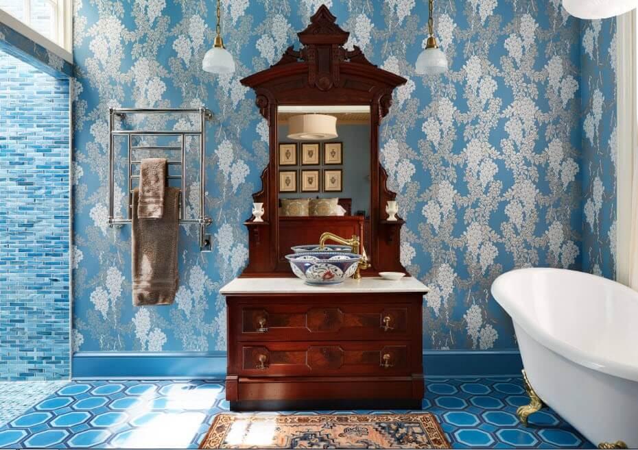 дизайн ванной в стиле прованс