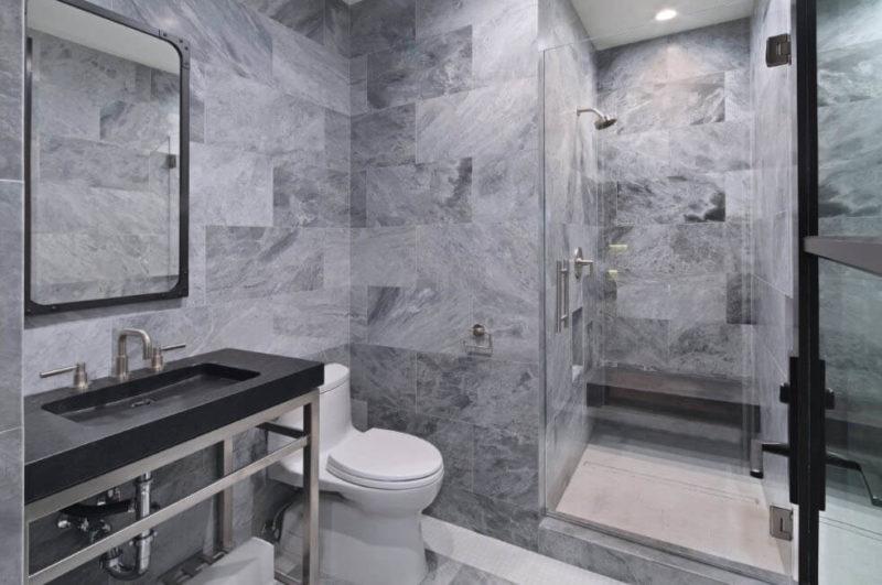 Оформление ванной комнаты керамической плиткой