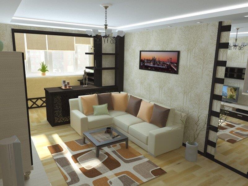 балкон та кухня в одному стилі