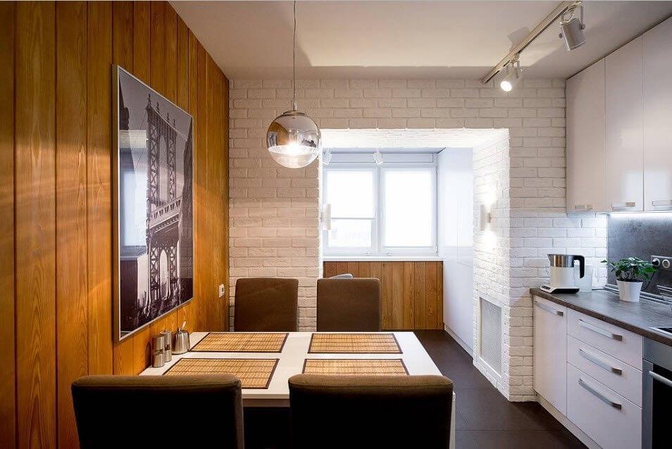 кухня на балконі переваги