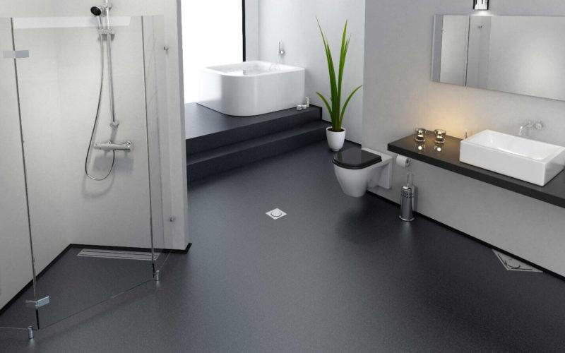 наливной пол ванной