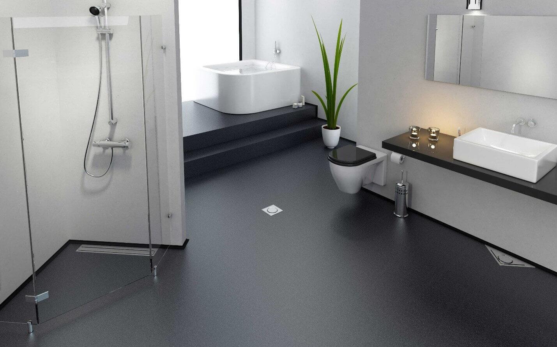 наливна підлога у ванній