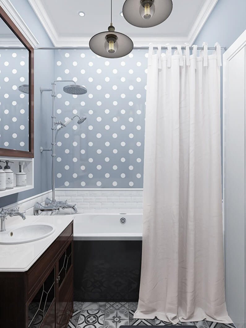 освещение маленькой ванной