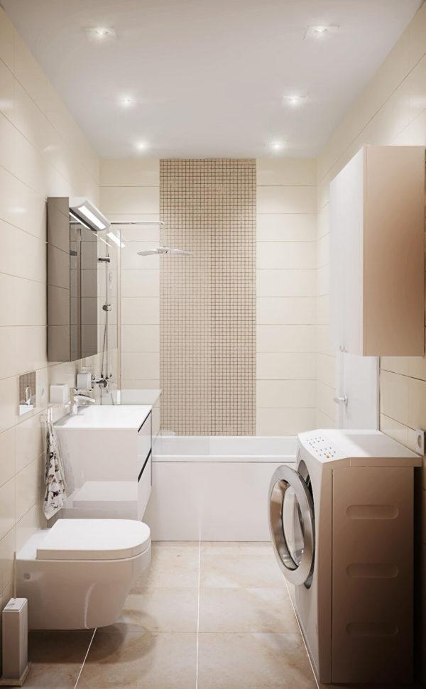 Освещение ванной комнаты 5 кв. м