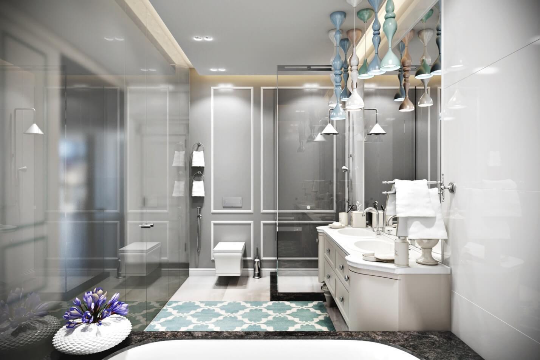 пофарбовані стіни у ванній