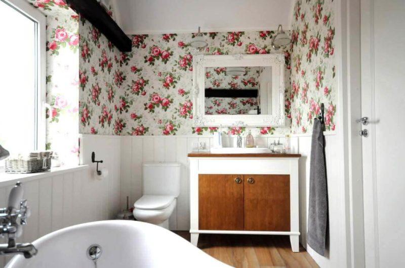 маленькая ванная в стиле прованс