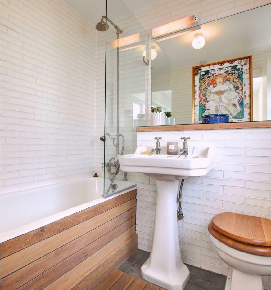 Прозрачная перегородка для ванны