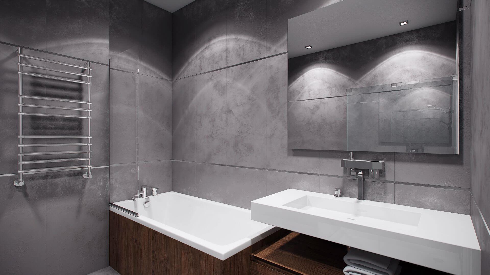 Сіра ванна кімната