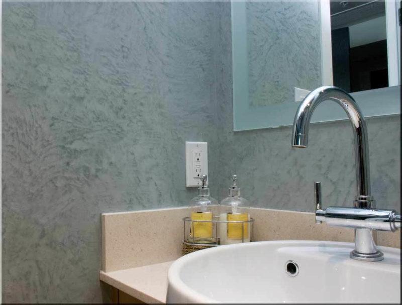 штукатурка стен ванной