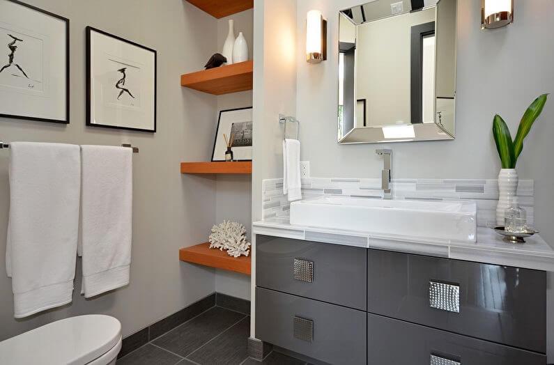 системи зберігання в маленькій ванній