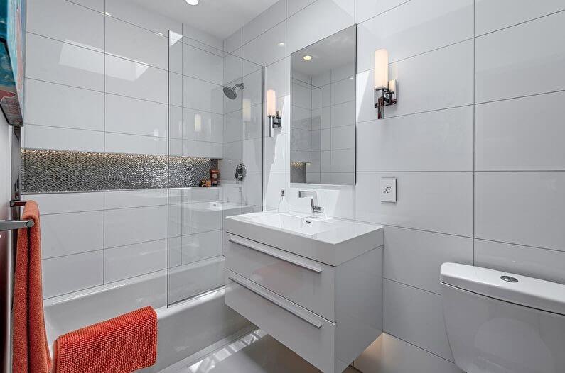 скандинавский стиль маленькой ванны
