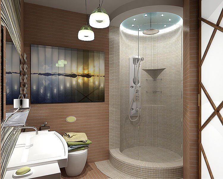 небольшая ванная в восточных мотивах