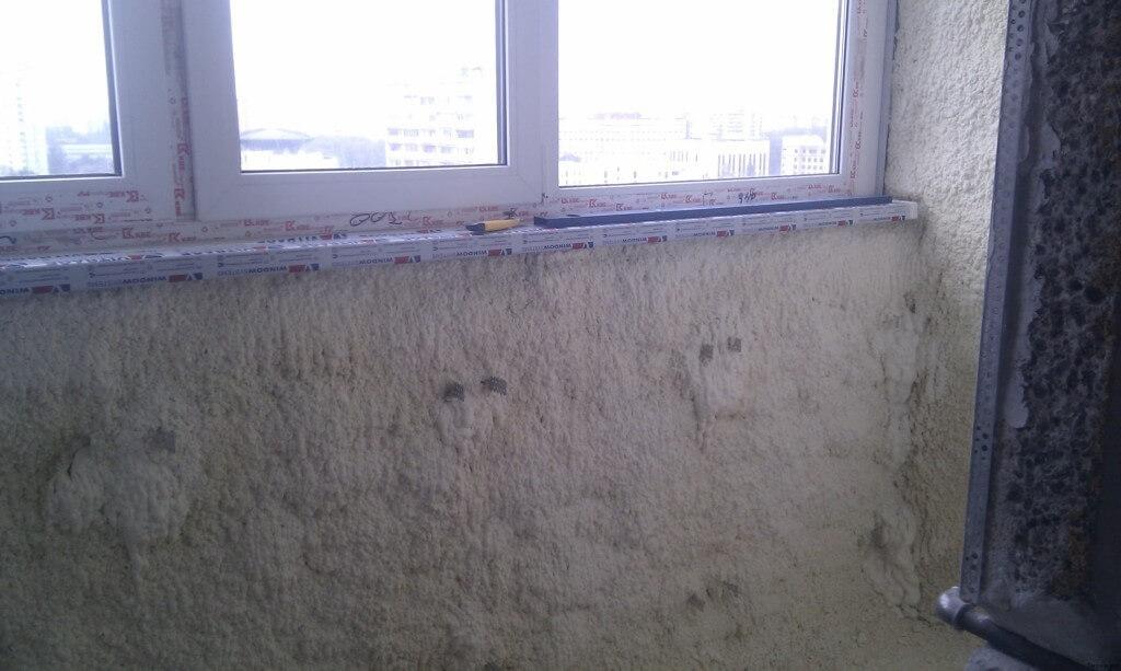 утеплення балкона пінополіуретаном