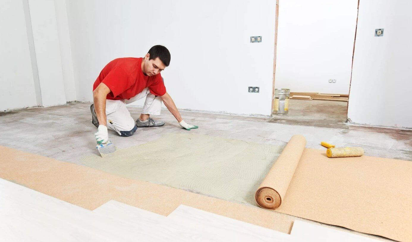 укладка ламінату на бетонну підлогу