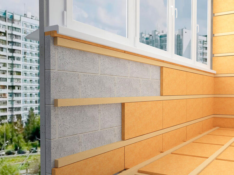 як утеплити балкон зсередини