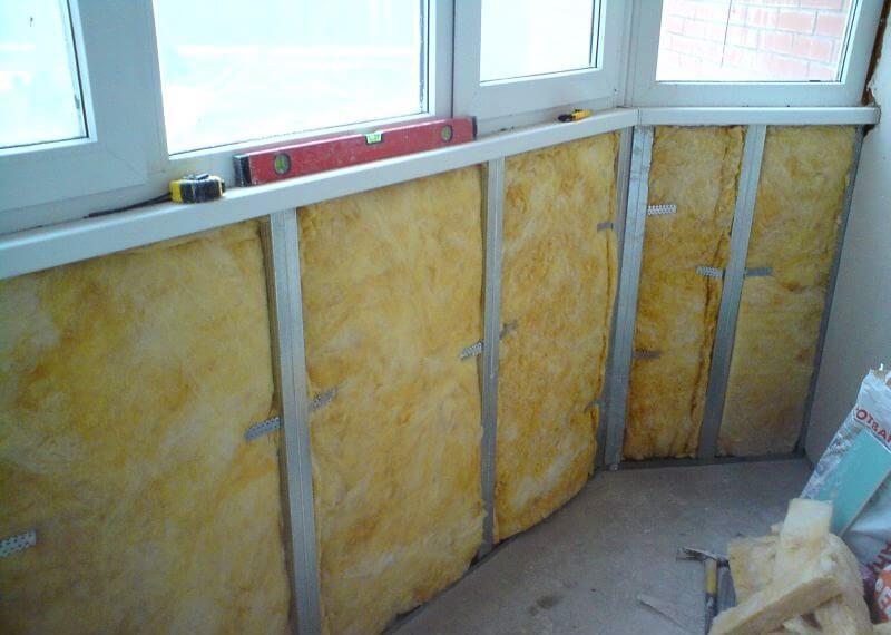 Утеплення балкона мінеральною ватою