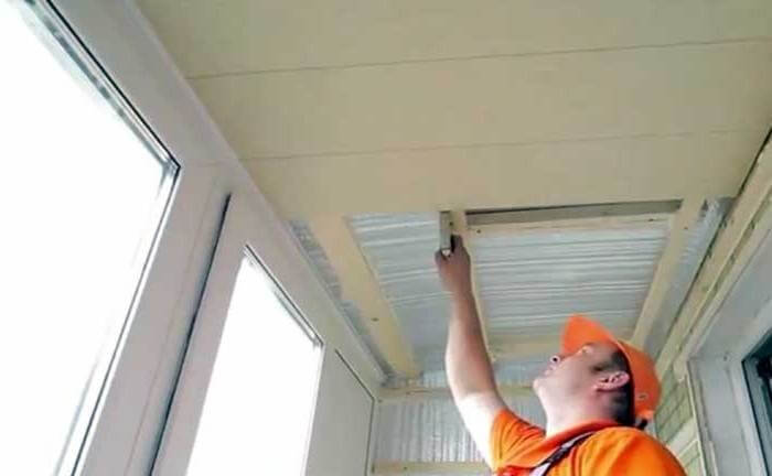 утепления потолка на балконе