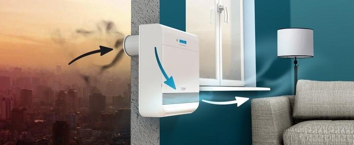 Процесс работы вентиляционной системы бризер