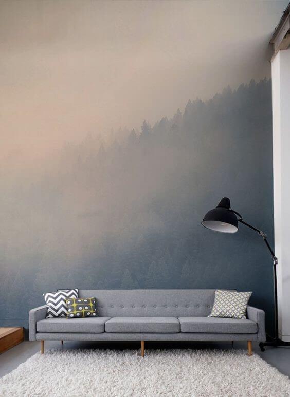 бумажные фотообои лес