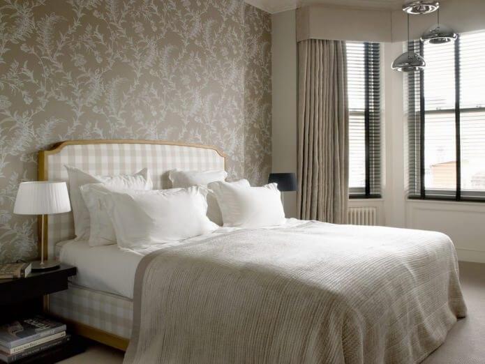 флизелиновые обои в спальне