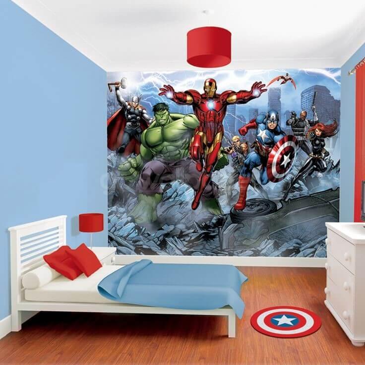 фотообои для мальчика супергерои