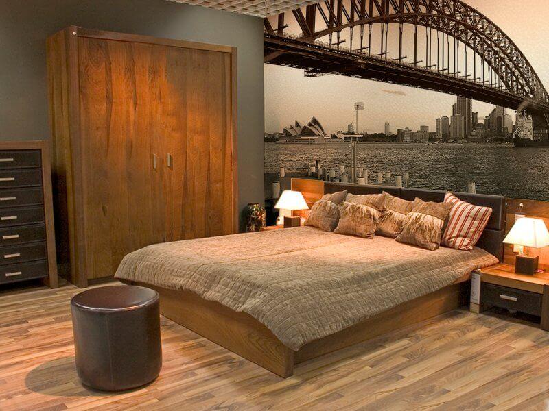 Фотообои в спальню над кроватью