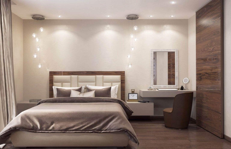 шпалери в спальню в стилі контемпорарі