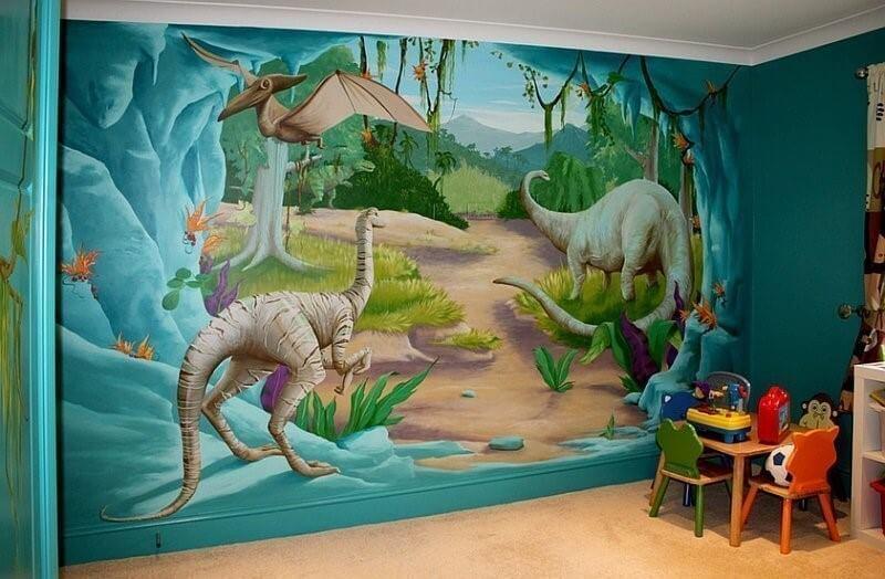 3д шпалери в дитячій кімнаті