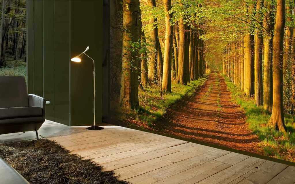 3d фото шпалери осінь