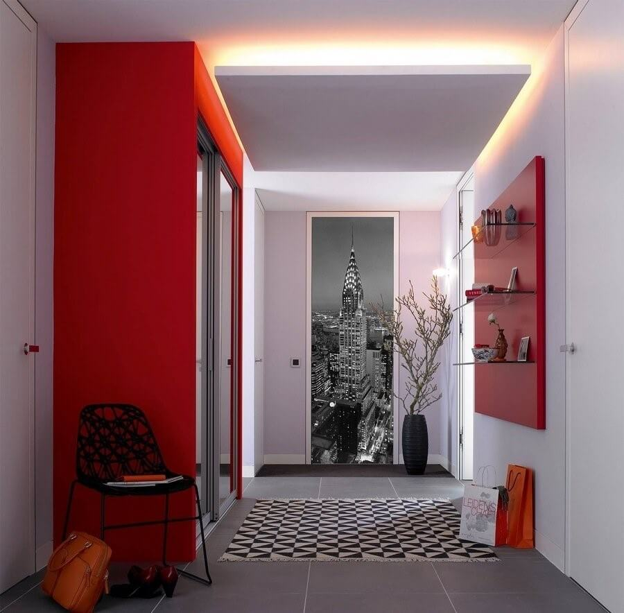 3д шпалери в коридорі
