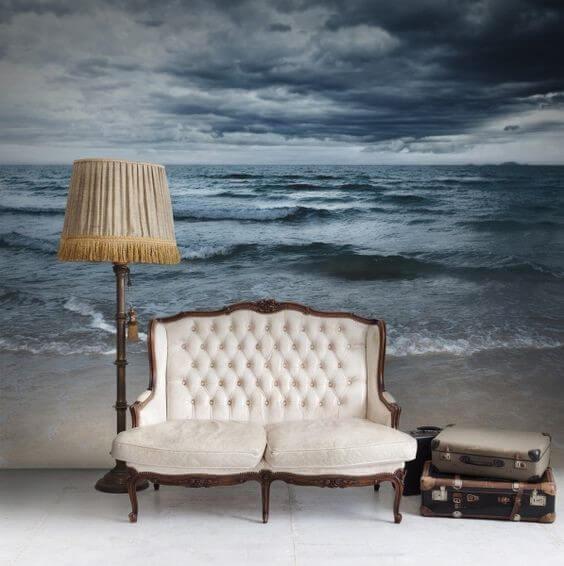 панорамні 3д фотошпалери море
