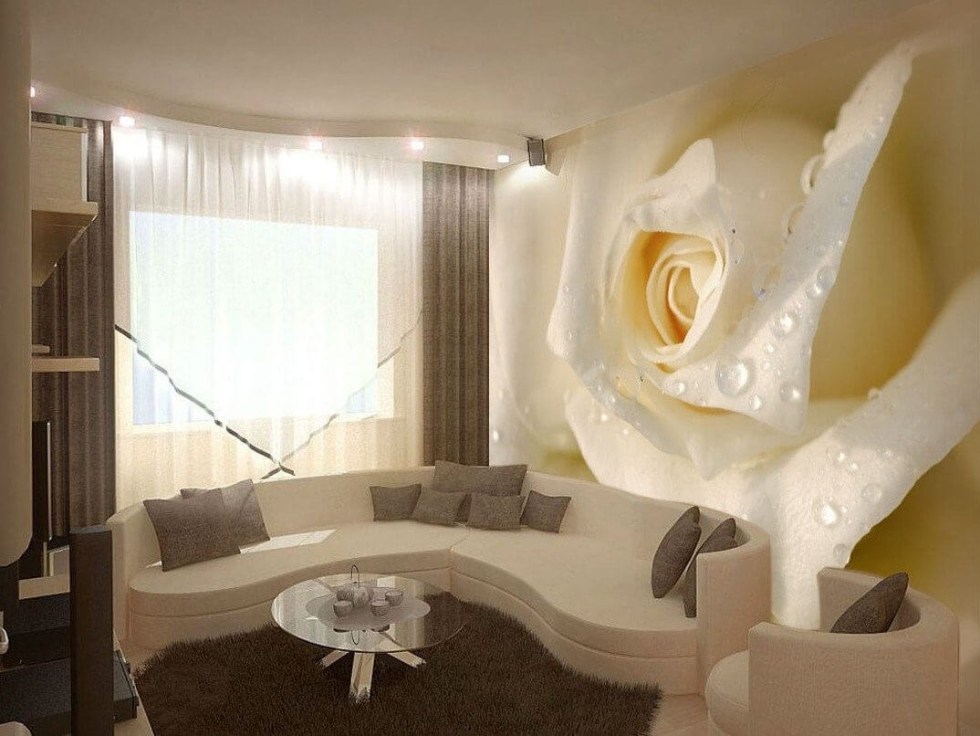 3d фотообои роза