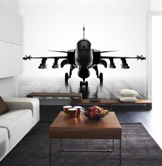 3д фотообои самолет