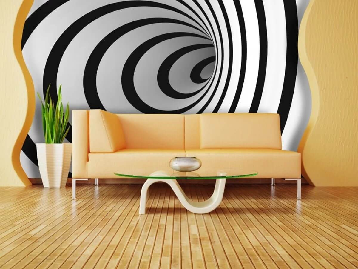 3D Spiral Unique Luxury Wallpaper for Walls