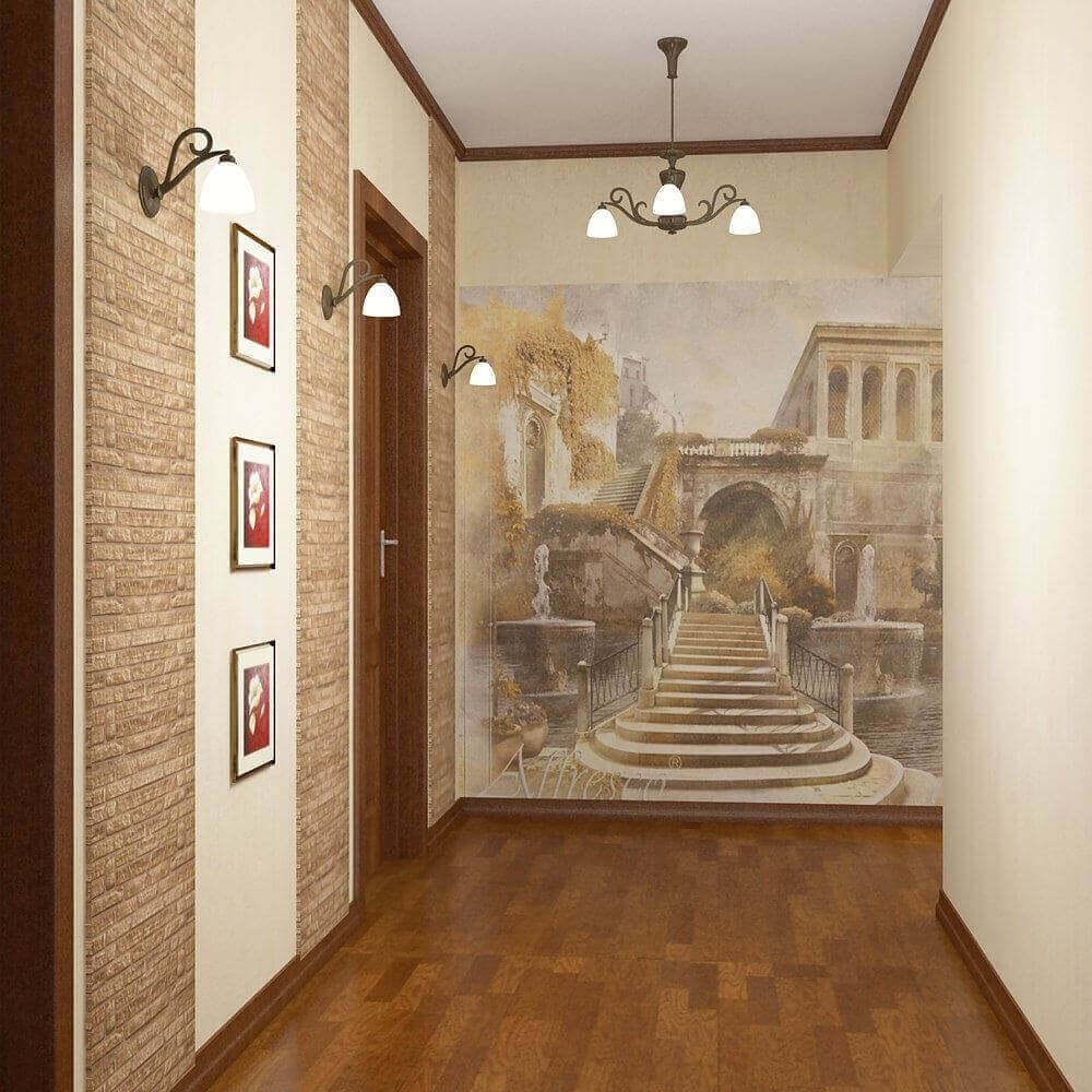 Фотошпалери в вузькому коридорі