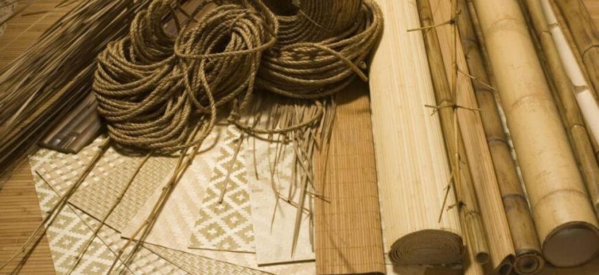 як клеїти бамбукові шпалери