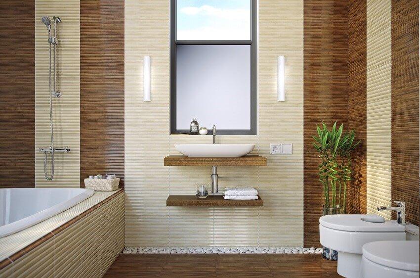 обои бамбуковые в ванной