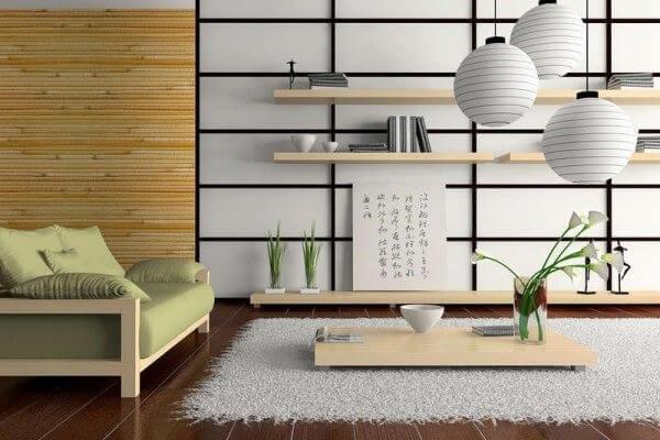 обои бамбуковые гостиная