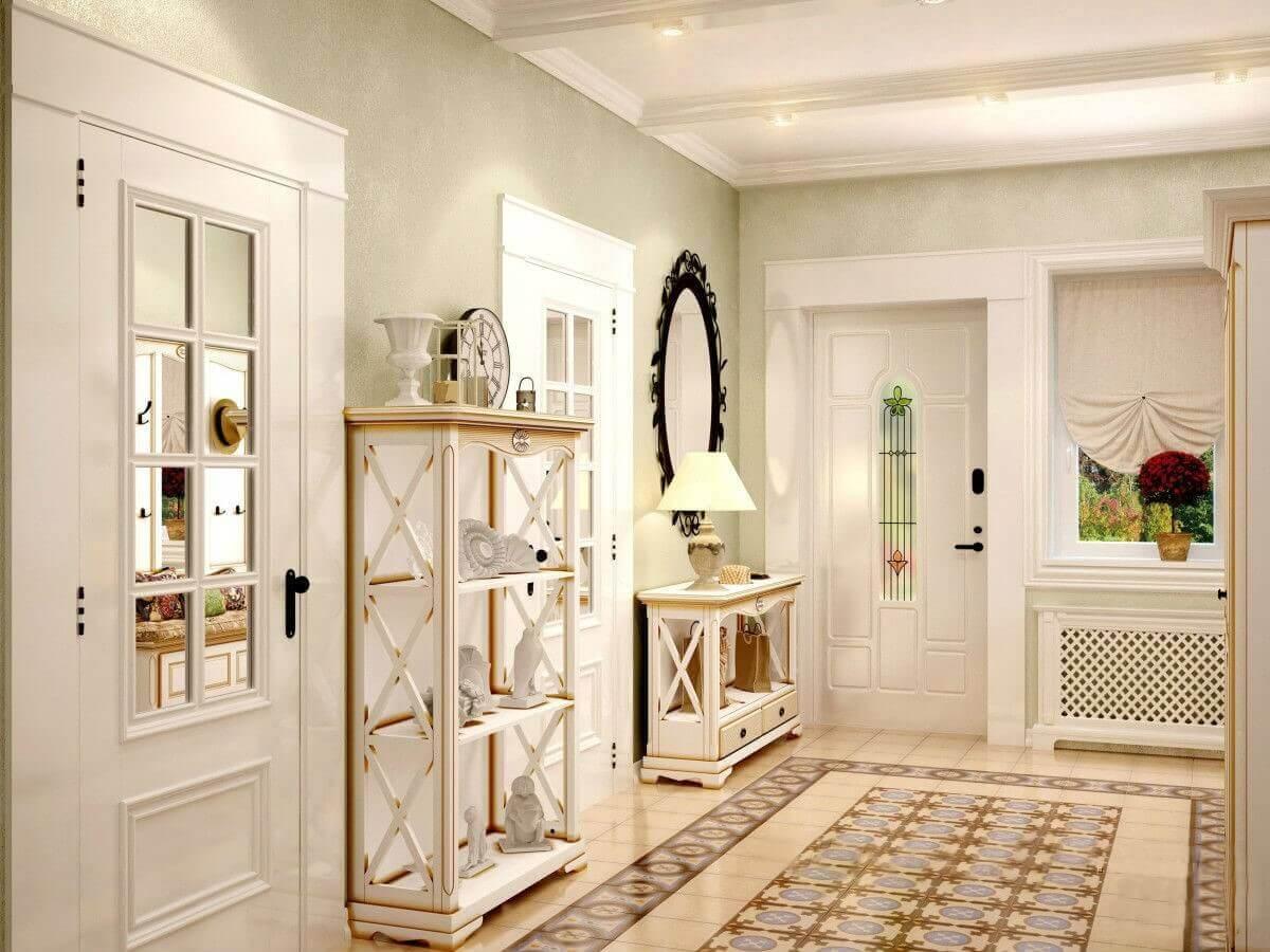 світлі шпалери в коридорі в стилі прованс