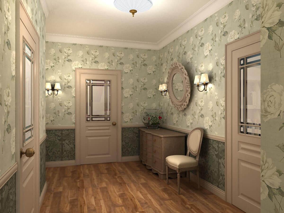 прованс обои в коридоре