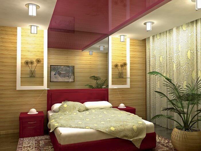 красивые обои бамбуковые в спальне