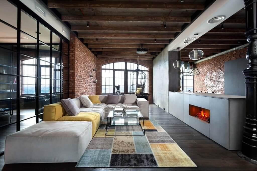 стиль лофт дизайн квартиры