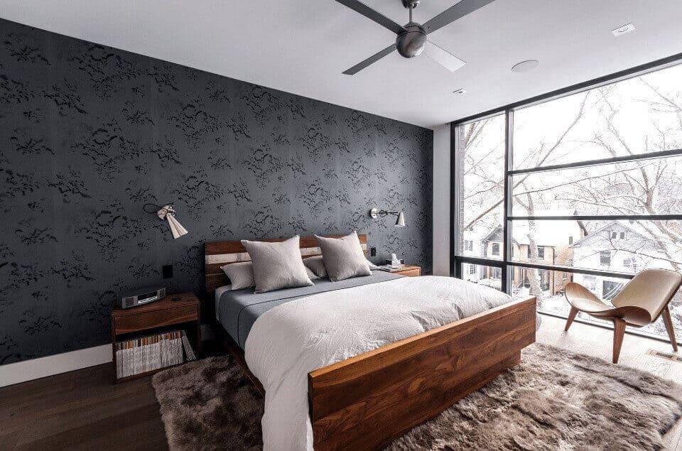 акцентні стіна в спальні