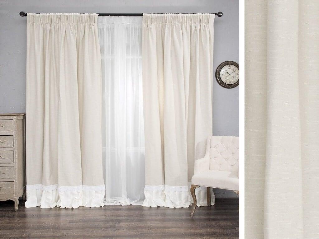 Білі модні штори