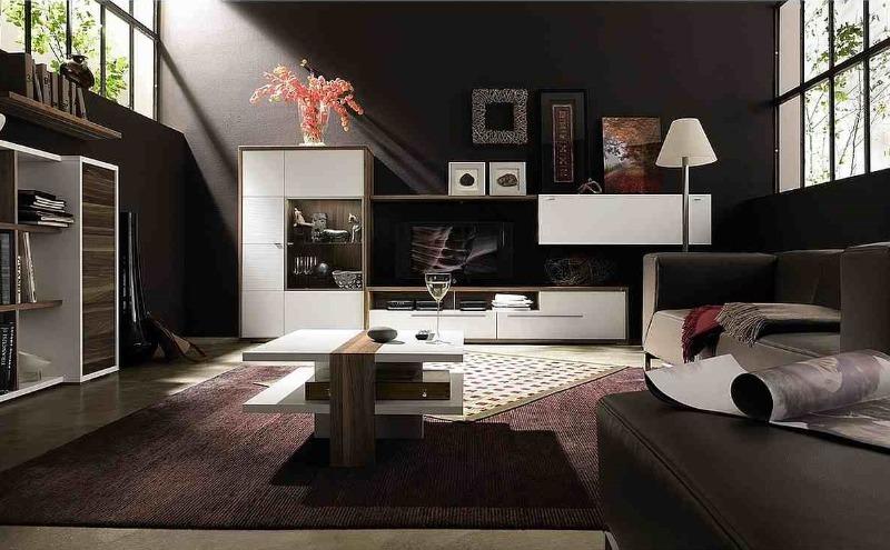 гостиная черного цвета