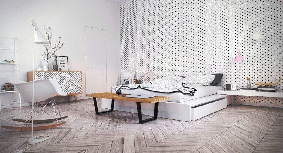 дизайн білої спальні