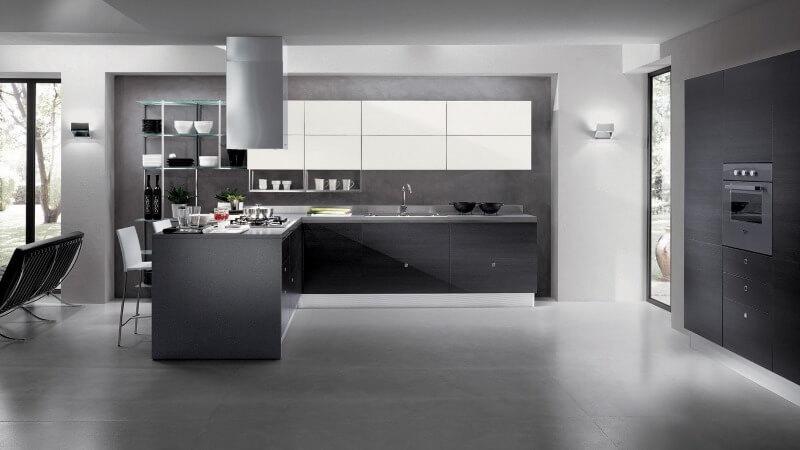 дизайн кухні в стилі хай тек