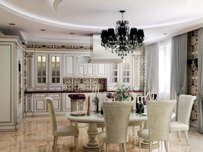 дизайн кухни классический стиль
