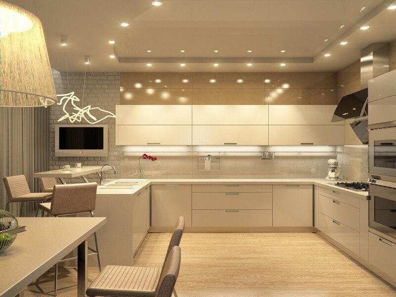 дизайн кухні в пастельних тонах