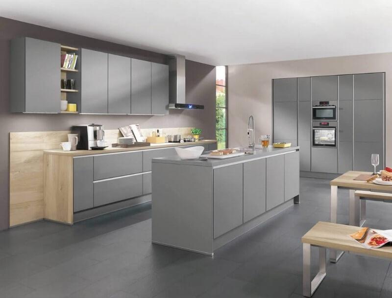 дизайн кухни серого цвета